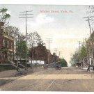 York PA Market Street Vintage Postcard Valentine & Sons