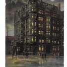 York PA Colonial Hotel Night Vintage UDB Postcard