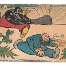 Katzenjammer Captain Moving Picture Vintage Newspaper Comic Novelty Postcard