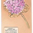 1908 Calendar Add-On Glitter Bouquet Vintage Novelty Postcard Rose Co.