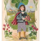 Child Applied Silk Knickers Four Leaf Clover Shamrock Novelty Postcard