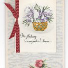 Birthday Congratulations Booklet add-on Vintage Novelty Postcard
