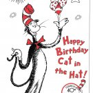 Modern Advertising Postcard Cat in The Hat 40th Birthday Random House Literacy Campaign
