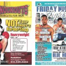 Modern Advertising 2-sided Card Fight Night Philadelphia Knockouts Haircuts Audubon PA