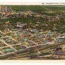 WY Aerial View Cheyenne Vintage Sanborn Souvenir Postcard Wyoming