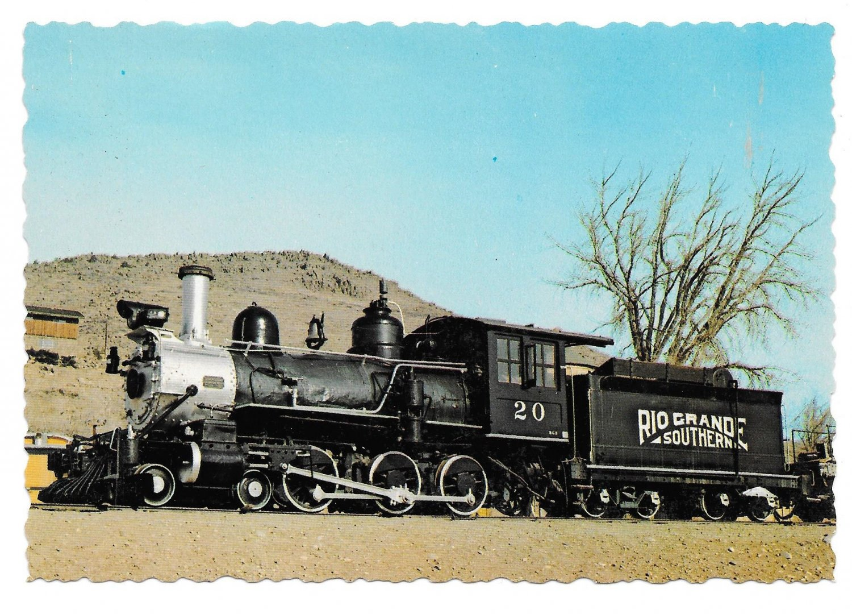 Rio Grande Southern Steam Locomotive Train Colorado RR Museum 4X6 Postcard