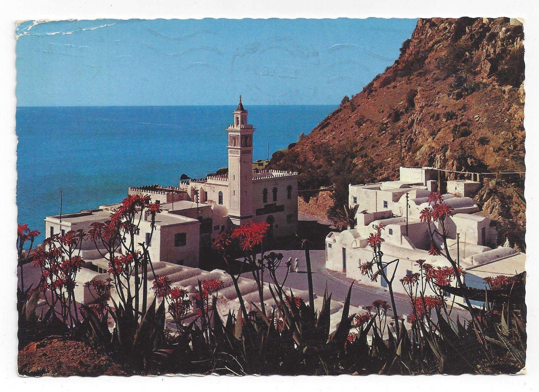 Africa Tunisia Korbous Spa Thermal Hot Springs Birds Eye View 4X6 Postcard