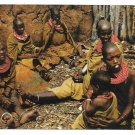East Africa Masai Women Kenya African Traditional Dress Vintage Postcard 4X6