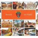 France Souvenir de Paris Monuments Yvon Multiview Postcard 4X6