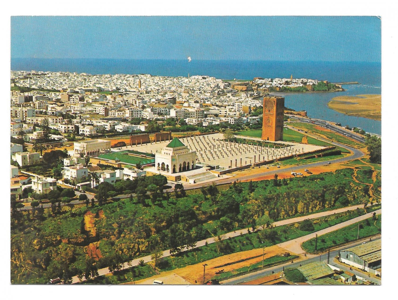 Africa Morocco Maroc Rabat Mausolee Mohammed V Aerial View Vintage 4X6 Postcard