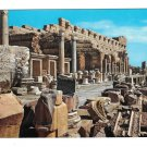 Libya Leptis Magna Lebda Africa New Forum Roman Ruins Vintage Genah Postcard 4X6