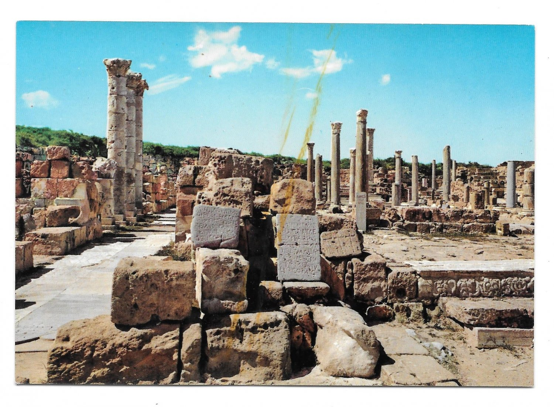 Africa Libya Sabratha Byzantine Churches Roman Ruins Vintage Genah Postcard 4X6