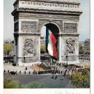 France Paris Arc de Triomphe French Flag Albert Monier 1965 Postcard 4X6