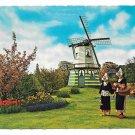 Netherlands Holland Flowers Windmills Tulips Women Traditional Costume Vntg Postcard