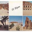 Tunisia El Djem Roman Ruins Vintage 1965 H Ismail Multiview Postcard 4X6