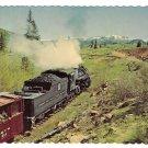 Cumbres Toltec Scenic Railroad Passenger Train RR Steam Engine Lobato Curve Vtg Postcard 4X6
