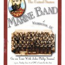 United States Marine Band John Philip Sousa Concert Announcement Modern Advertising Postcard