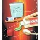 Modern Dental Advert Postcard Toothpaste Tooth Brush Floss 2008 Appt Postcard