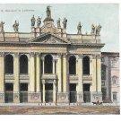 Italy Rome Basilica Giovanni in Laterano Vintage Postcard Roma UND
