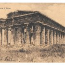 Italy Pesto Tempio di Nettuno Temple of Neptune Paestum 1908 Postcard