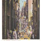 Italy Napoli Pallonetto S Lucia Naples Street Scene Vintage Postcard