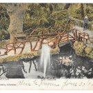 British Gibraltar Cascade Bridge Vintage V B Cumbo 1908 Postcard