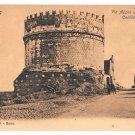 Italy Roma Appian Way Via Appia Tomb Cecilia Metella Vintage Postcard E. Risi