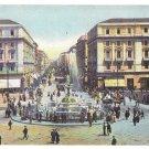 Italy Napoli Corso Umberto I Fountain Campania Vintage Postcard Naples Street