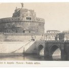 Italy Roma Castel S Angelo Tevere Ancient Castle Bridge Tiber River Postcard