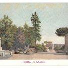 Italy Roma S Sebastiano Vintage Postcard Alterocca Terni 3412