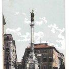 Italy Roma Piazza di Spagna Colonna della Concezione Spanish Square Vintage Postcard