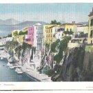 Italy Sorrento Campania Panorama Vtg De Luca Gentile Napoli Postcard