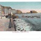 Italy Napoli Via Caracciolo Castel dell Uovo Naples Ragozino Vintage Postcard