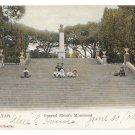 Gibraltar General Eliott's Monument Column Stairs 1908 Vintage VB Cumbo Postcard