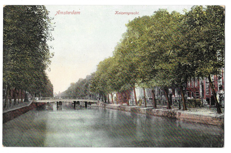 Netherlands Holland Amsterdam Keizersgracht Canal A Vigevano Postcard