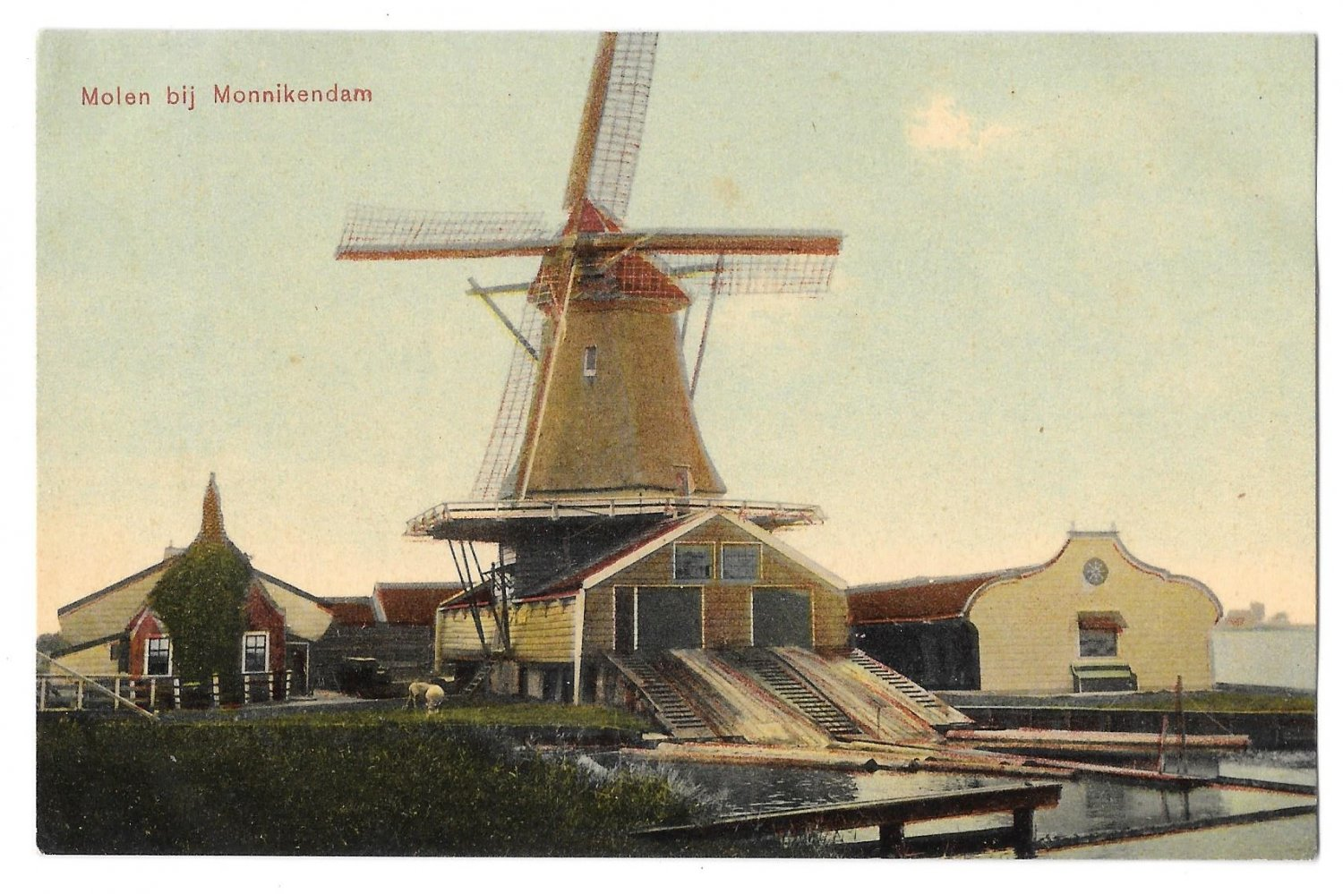 Netherlands Holland Molen Monnikendam Dutch Windmill 1908 Trenkler Postcard