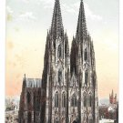 Germany Koln Cologne Cathedral West Side Dom Westseite Vintage Leo Kurten Postcard
