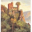 Castle Tuck Rheinburgen Oilette 678B Burg Rheinstein Vintage Postcard Germany