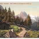 Switzerland Bernese Alps Rosenlaui Glacier Well Wetterhorn Vintage Postcard