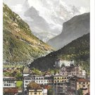 Switzerland Interlaken Jungfrau Swiss Alps Phototypie Co Vintage Postcard