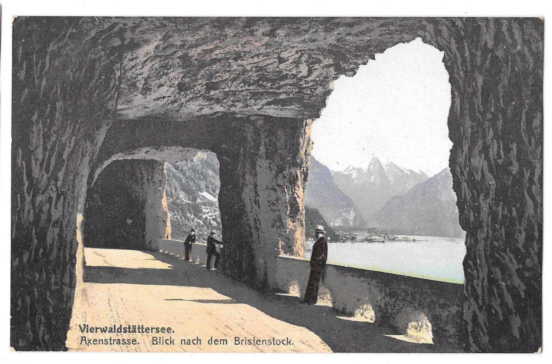Switzerland Lake Lucerne Axenstrasse Vierwaldstattersee Vintage Postcard