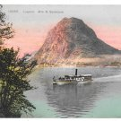 Switzerland Lugano Paradiso Monte S Salvatore Boat Steamer 1908 Vintage Postcard