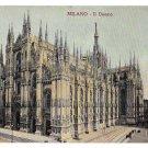 Italy Milano Duomo Milan Cathedral Vintage Postcard 1908