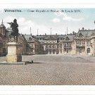 Versailles France Cour Royale Statue Louis XIV Vintage Postcard