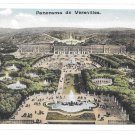France Panorama de Versailles Palace Aerial View Vintage Postcard