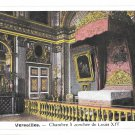 France Versailles Palace Chamber Coucher Louis XIV Bedroom Vintage Postcard