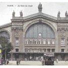 Paris France Gare du Nord Railway Station RR Vintage Postcard
