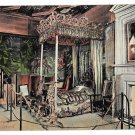 Scotland Holyrood Queen Mary's Bedroom Vintage Postcard Valentines Series JV