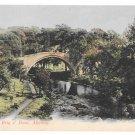 UK Scotland Ayr Alloway Auld Brig O' Doon River Doon Bridge Vintage GWW Postcard