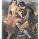 UK Scotland Robert Burns and Highland Mary Vintage GWW Postcard